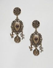 ASOS DESIGN - Orecchini pendenti stile romantico vintage - Oro