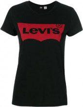 Levi's - logo print T-shirt - women - Cotton - XS - BLACK