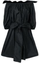 Stella McCartney - off-the-shoulder bow dress - women - Polyester/Silk - 38, 40, 36, 42, 44 - BLACK