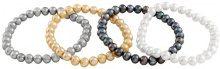 Bella pearls set di 4Bracciali Elastici multicolore con perle d'acqua dolce, lunghezza 18cm