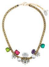 Radà - Collana decorata con pietre preziose e perle sintetiche - women - Silk/Polyester/Brass/glass - OS - Metallizzato