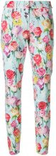 Blumarine - floral trousers - women - Cotton/Spandex/Elastane/Polyester - 40, 42, 44 - BLUE