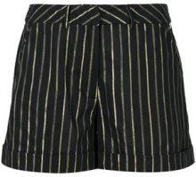 Twin-Set - striped short shorts - women - Cotton/Polyester - 38, 40, 44, 46 - BLACK