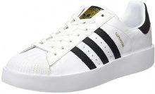 adidas Superstar Bold W, Scarpe da Ginnastica Basse Donna, Bianco (Footwear White/Core Black/Gold Metallic 0), 43 1/3 EU