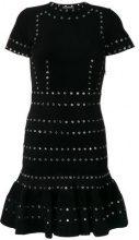 Alexander McQueen - Vestito decorato - women - Polyamide/Polyester/Spandex/Elastane/metal - S - BLACK