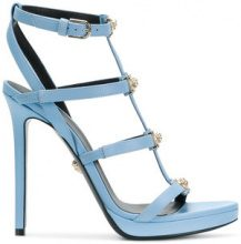 Versace - Sandali con cinturini 'Medusa' - women - Leather - 37, 38, 38.5, 40 - BLUE