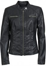 ONLY Zip Pu-jacket Women Black