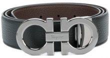 Salvatore Ferragamo - Cintura Gancini - men - Calf Leather - 105, 110, 115 - BLACK