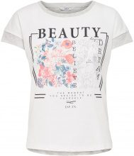 ONLY Printed Short Sleeved Top Women Grey