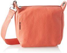 Mandarina Duck Mellow Leather Tracolla - Borse a spalla Donna, Rosa (Siena), 10x24x25.5 cm (B x H T)