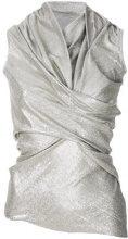 Rick Owens Lilies - Blusa a portafoglio - women - Polyimide - 38, 40, 42 - METALLIC
