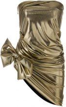 Redemption - Top a tubino con fiocco - women - Polyester/Spandex/Elastane - 40, 42, 46 - Metallizzato