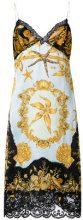 Versace - Tresor de la Mer print slip dress - women - Silk/Cotton/Acetate/Viscose - 42 - BLACK