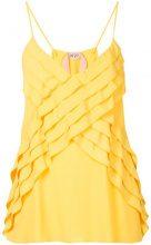 - Nº21 - spaghetti straps top - women - Silk/Acetate - 44 - Giallo & arancio