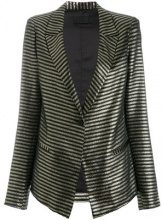 Rta - Blazer a strisce - women - Polyester/Cotton/poliacrilico/other fibers - S, M - BLACK