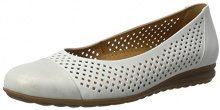 Gabor Shoes Comfort, Ballerine Donna, Bianco (Weiss/Silber 51), 42 EU