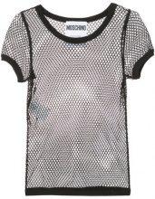 Moschino - mesh top - women - Cotone/other fibers - 42, 40 - Nero