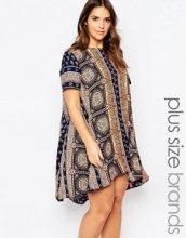 AX Paris Plus - Vestito svasato con stampa bandana