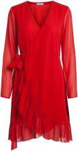 PIECES Frill Wrap Dress Women Red