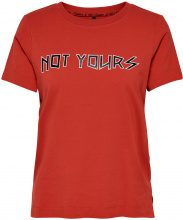 ONLY Printed T-shirt Women Red