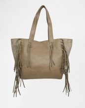 Urban Originals - Borsa shopper con frange