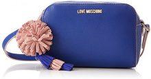 Love Moschino Borsa Small Grain Pu Blu - Borse Baguette Donna, (Blue), 8x13x19 cm (B x H T)