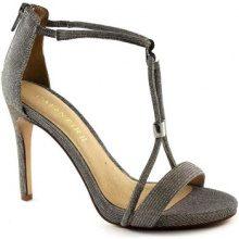 Sandali Café Noir  MNB994 argento scarpe sandali donna tacco spillo zip gioiello