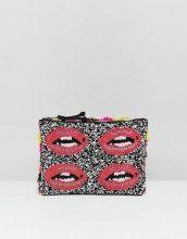 Essentiel Antwerp - Pochette a forma di labbra con perline - Multicolore