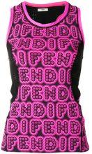 Fendi - Top stampato - women - Polyamide/Spandex/Elastane - 42, 38 - PINK & PURPLE