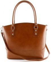 Borsa Shopping Dream Leather Bags Made In Italy  Borsa A Tracolla In Pelle Colore Cognac - Pelletteria Toscana Ma
