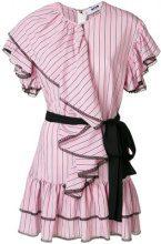- MSGM - Abito con balze - women - fibra sintetica/cotone - 40, 42 - di colore rosa
