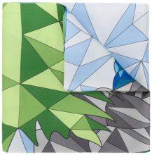 Cha•Val Milano - Foulard con motivo geometrico - women - Silk - OS - PINK & PURPLE