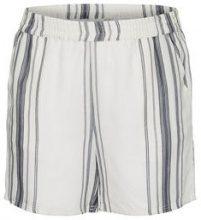 JUNAROSE Striped Shorts Women White