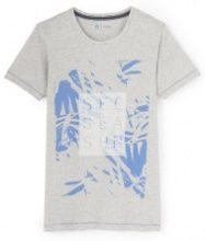 T-shirt con scollo rotondo fantasia