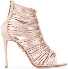 Aquazzura - Sandali 'Nadja' con tacco - women - Leather/Satin - 36, 37, 39, 40.5 - PINK & PURPLE