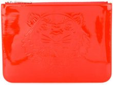 Kenzo - Borsa clutch 'Tiger' - women - Polyurethane - One Size - RED