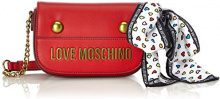 Love Moschino Nappa Grain Pu Rosso - Borse Baguette Donna, (Red), 6x12x19 cm (B x H T)