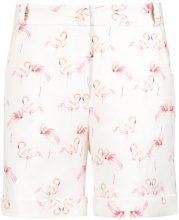 Olympiah - flamingo print tailored shorts - women - Polyester/Spandex/Elastane - 36, 38, 40 - WHITE