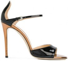 Deimille - Sandali con tacco stiletto - women - Leather - 37, 38, 39, 40 - BLACK