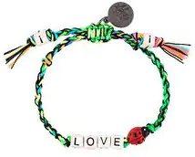 Venessa Arizaga - braccialetto 'Love Bug' - women - Cotone/Gunmetal Plated Brass/ceramic - One Size - GREEN