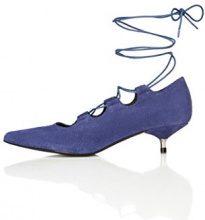 FIND Scarpe con Tacco Donna, Blu (Blue), 39 EU