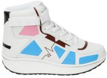 Sneakers fitness alte con motivo geometrico