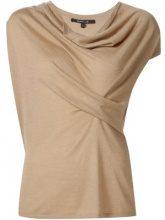 Derek Lam - top con scollatura drappeggiata - women - Silk/Cashmere - XS, S, M, L, XL - NUDE & NEUTRALS