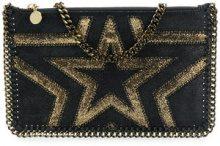 Stella McCartney - Falabella star clutch - women - Polyester - OS - BLACK
