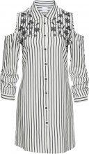 Camicia lunga con ricamo e spalle scoperte (Bianco) - BODYFLIRT