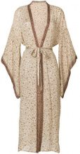 Mes Demoiselles - Candace Empire Floral kimono - women - Silk - One Size - NUDE & NEUTRALS