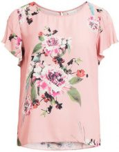 VILA Feminine Short Sleeved Top Women Pink
