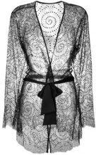 Gilda & Pearl - Kimono 'Evelyn' - women - Polyamide/Viscose/Silk - OS - BLACK