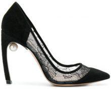 Nicholas Kirkwood - Mira pearl pumps - women - Cotton/Polyamide/Suede/Leather - 36.5, 37, 37.5, 38, 39, 39.5, 40, 40.5, 41 - BLACK