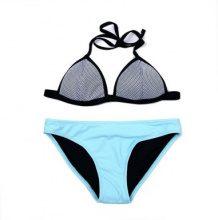 Bikini a triangolino bicolore